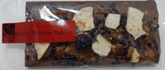 Winter Fruits Tablet 34% MILK 100g in bag