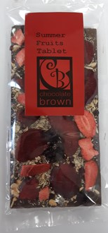 Summer Fruits Tablet  53% DARK 100g in bag
